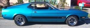 Blue Mustang Fastback Mach1